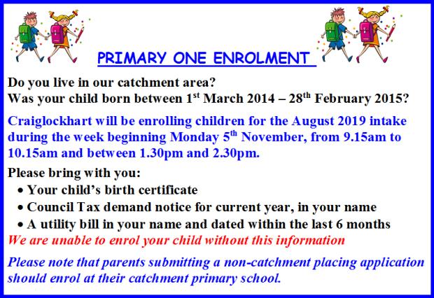 P1 enrollment